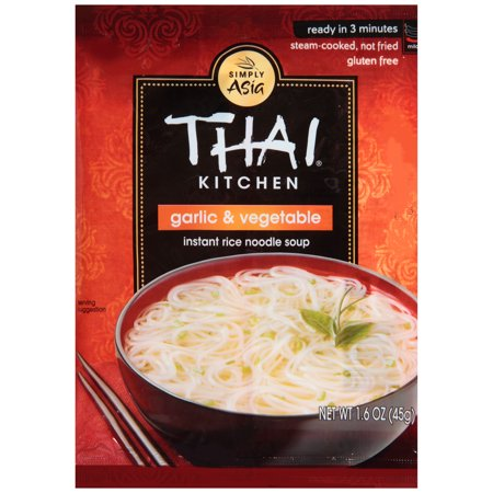 Rice Noodle Soup - Thai Kitchen Gluten Free Garlic & Vegetable Instant Rice Noodle Soup, 1.6 oz