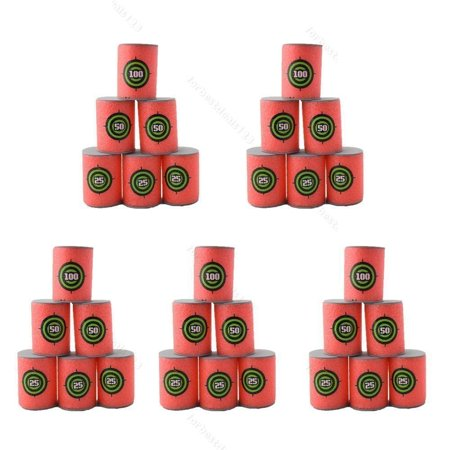 Blaster Target - VGEBY 30pcs Bullet Darts Target for Nerf N-Strike Elite Series Blasters Pack Soft EVA Material ( Red )