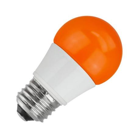 TCP 03385 - RLA155OR Colored LED Light - Orange Halloween Light Bulbs