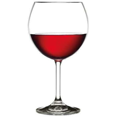 Bohemian Crystal 16 Oz 'Vineyard' Vintage Red Wine Goblet Glasses, Set of 6 ()