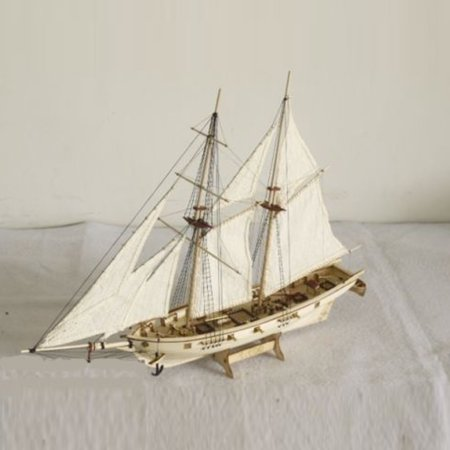 1:100 Scale Wooden Wood Sailboat Ship Kits Home Office Model Decoration Boat Toy Kids Birthday Gift Today's Specials
