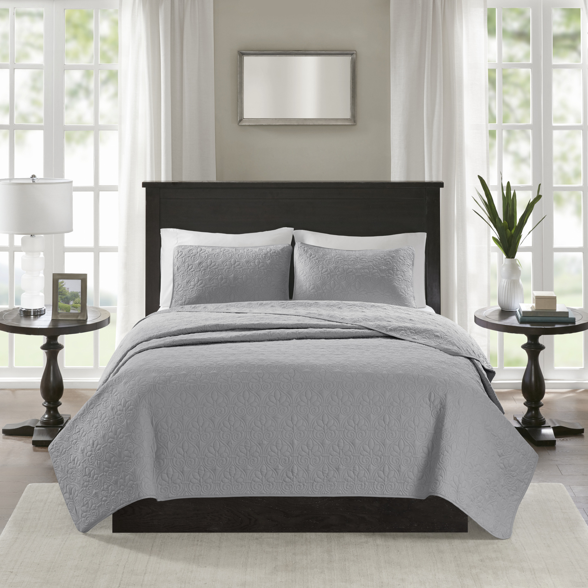 Home Essence Vancouver Quilted Super Soft Coverlet Mini Set