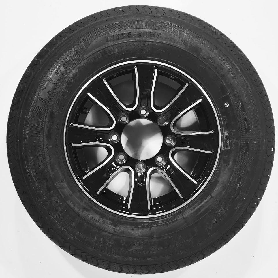 Trailer Tire & Rim 60251 ST235/80R16E 3520# 80PSI 16X6 8-...