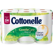 Cottonelle Toilet Paper, Gentle Care with Aloe & E, 12 Double Rolls
