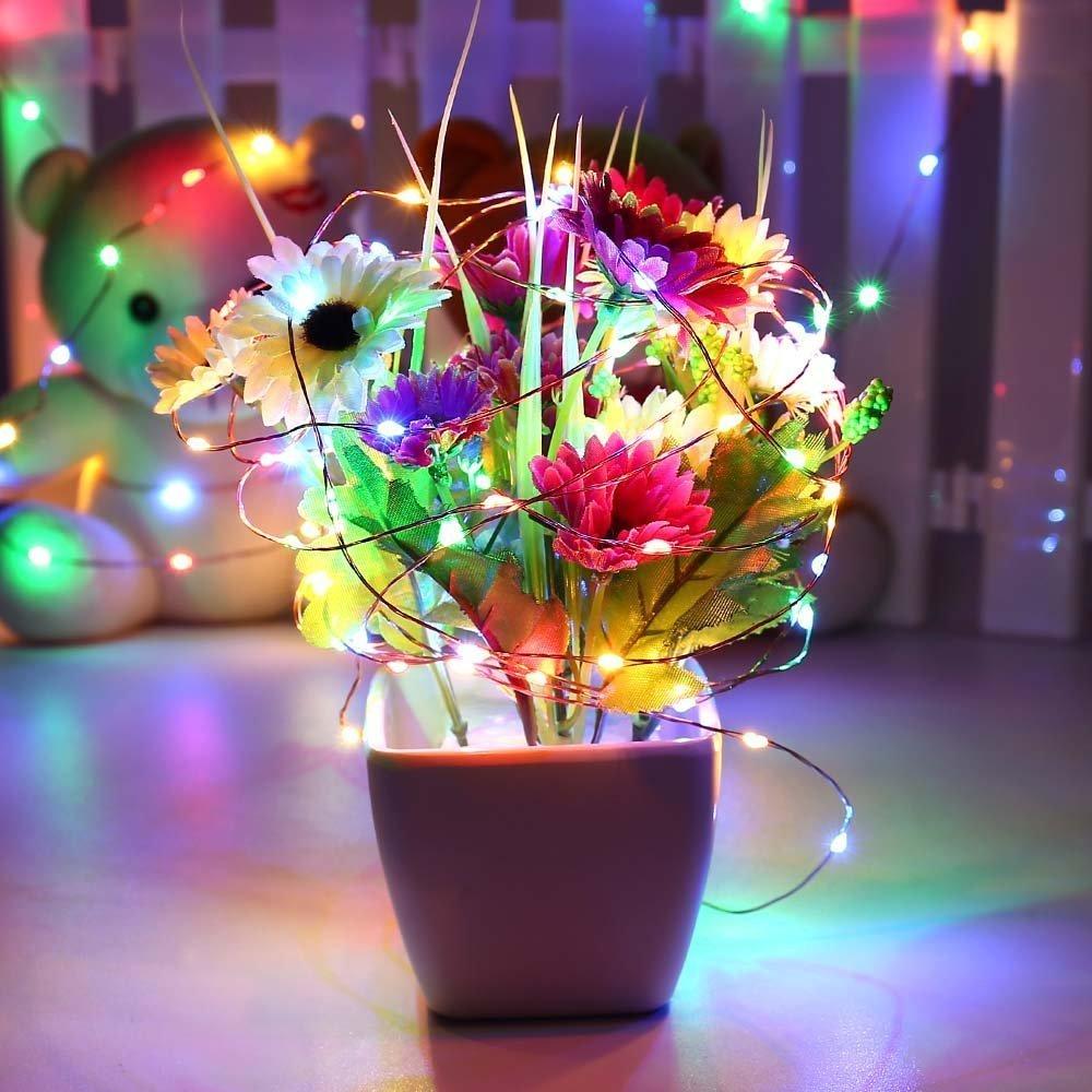 Qedertek Fairy String Lights, 66ft 200 LED Copper String Lights ...