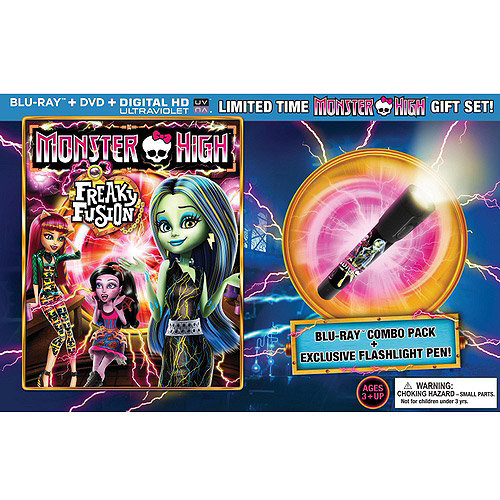 Monster High: Freaky Fusion (Blu-ray   DVD   Flashlight Pen) (Walmart Exclusive) (With INSTAWATCH) (Widescreen)