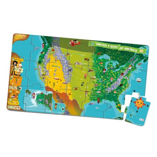 Leapfrog Interactive Us Map leapfrog leapreader interactive united states map puzzle (works