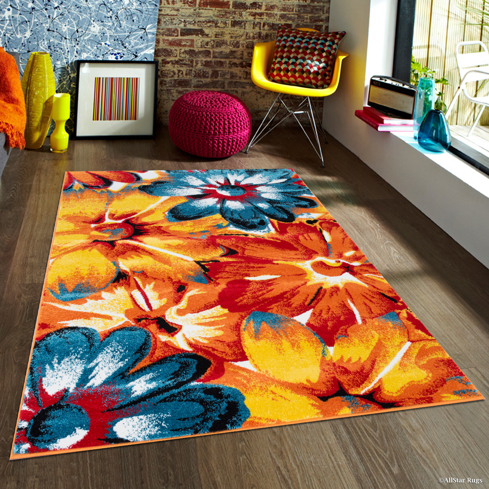 Click here to buy AllStar Woven High Quality Colorfun. Burst of Colors. Contemporary Modern Transitional... by Overstock.