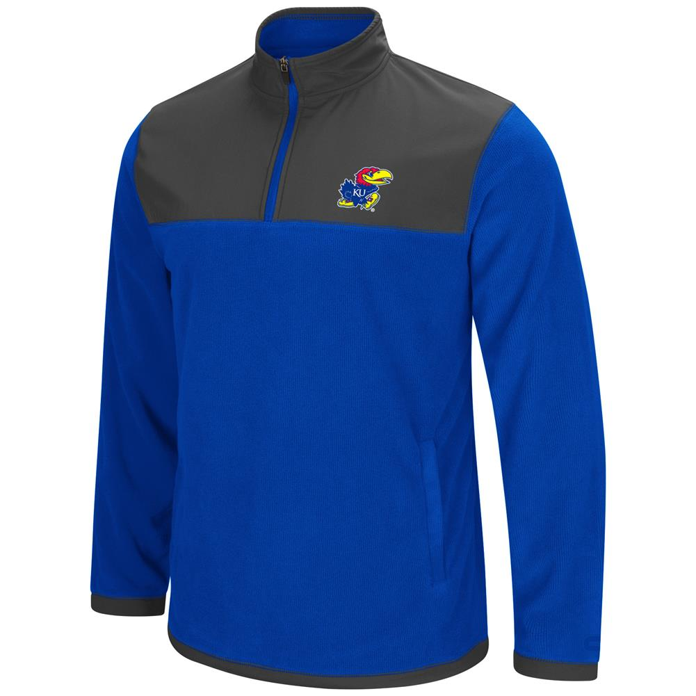 Kansas Jayhawks KU Men's Full Zip Fleece Jacket by Colosseum
