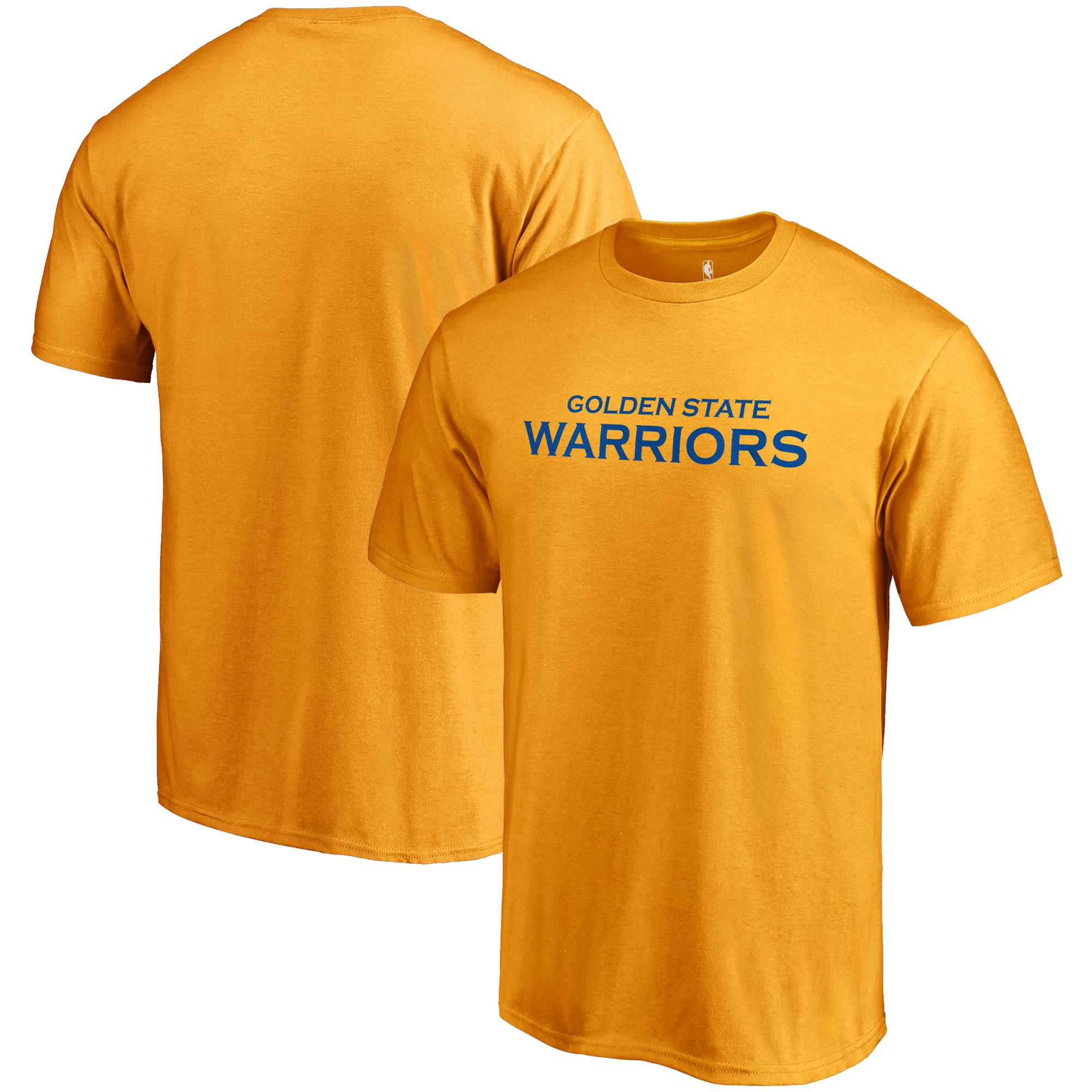 Golden State Warriors Fanatics Branded Primary Wordmark T-Shirt - Gold