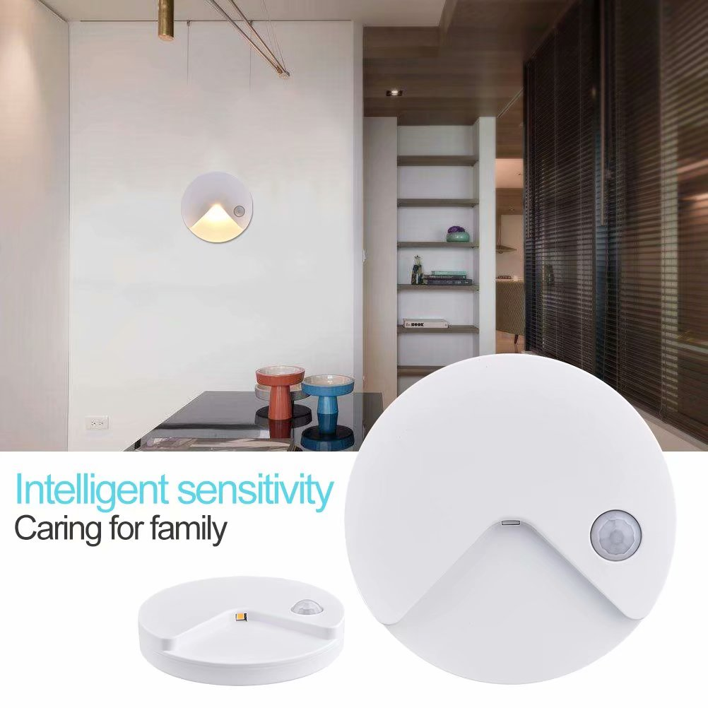 Human Body Motion Sensor Night Light, USB Rechargeable LED,Closet Lights Lamp, Stair Lights, Bathroom, Bedroom, Kitchen (Warm White)