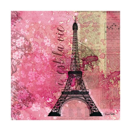 Pink Paris Print Wall Art By LuAnn Roberto