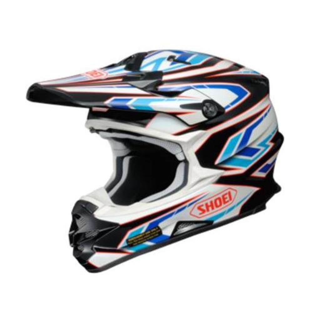 Shoei VFX-W Block Pass Helmet Red (TC-1) (Red, Medium)