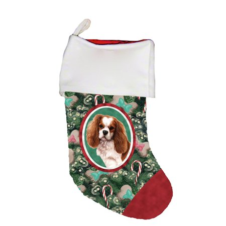 Cavalier King Charles Cotton Stockings - Cavalier King Charles Blenheim - Best of Breed Dog Breed Christmas Stocking
