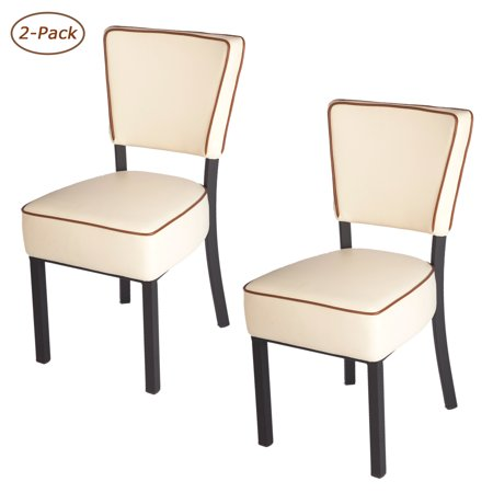 Astounding Karmas Product Home Kitchen Chairs Set Of 2 Pu Leather Dining Chairs With Backrest Modern Simple Furniture Chair Beige Bralicious Painted Fabric Chair Ideas Braliciousco