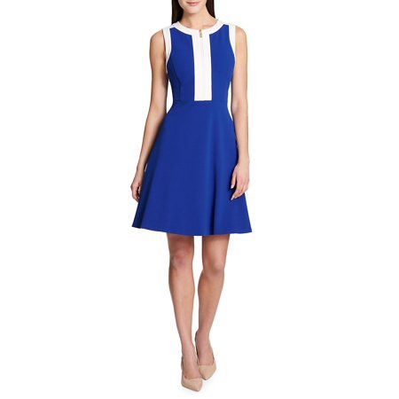 28ba302c474 Tommy Hilfiger - Colorblock Fit-and-Flare Dress - Walmart.com