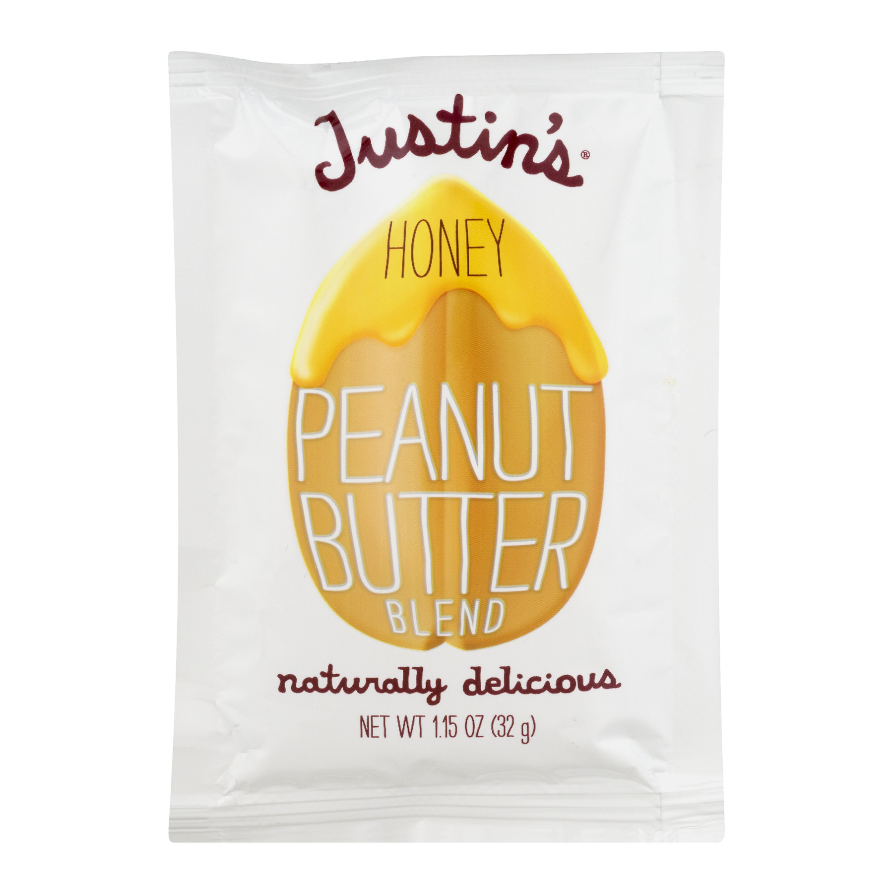 Justin's Nut Butter: Honey Peanut Butter Squeeze Packs, 1.15 oz (20 pack)