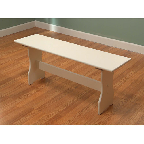 TMS Nook Dining Bench, Antique White