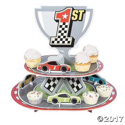 Oriental Trading IN-13760764 Race Car Birthday Cupcake Stand