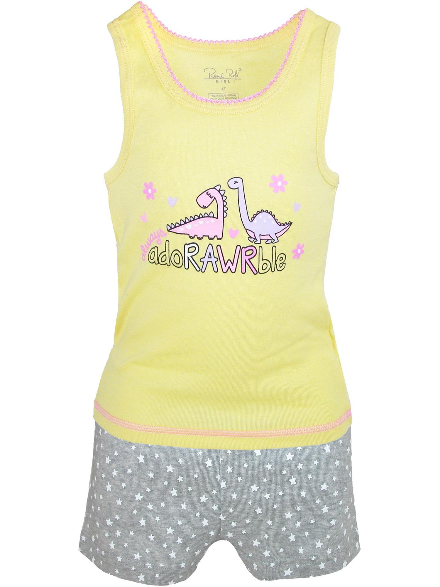 Girls' 4-Piece Mix-and-Match Sleepwear Set