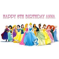 Princess Disney Birthday Cake Personalized Cake Toppers Edible Frosting Photo Icing Sugar Paper A4 Sheet 1/4 PR2578