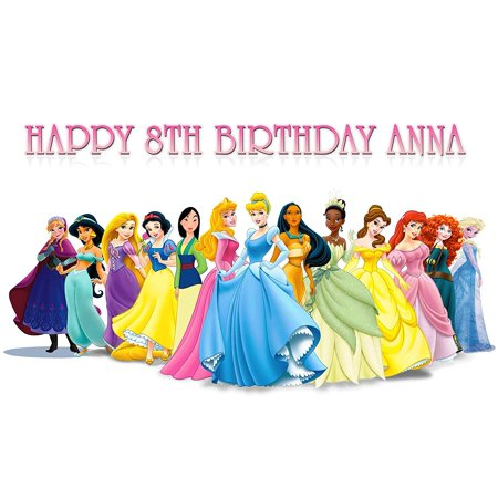 Princess Disney Birthday Cake Personalized Cake Toppers Edible Frosting Photo Icing Sugar Paper A4 Sheet 1/4 PR2578 ()