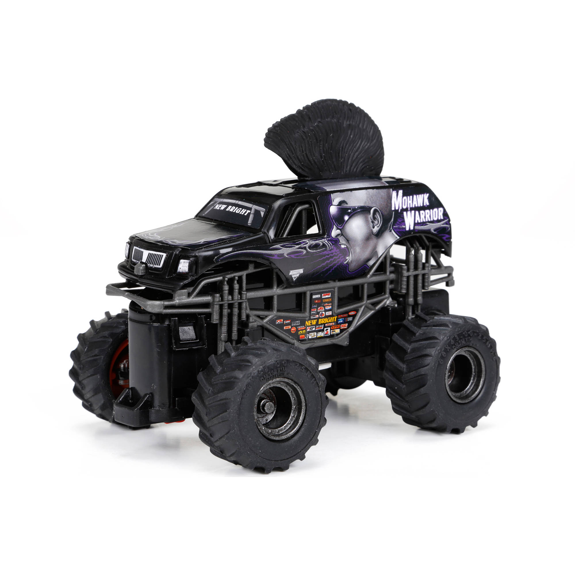 1:43 Full-Function Monster Jam Mini Mohawk Warrior R/C Car, Black