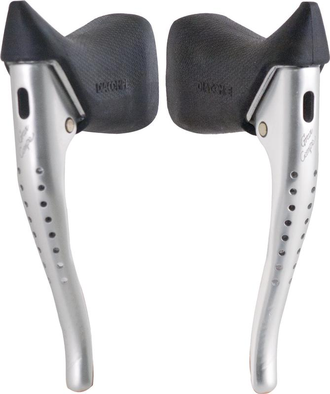 New Dia-Compe BL-07 Aero Road Bicycle Brake Levers Silver With Black Hoods