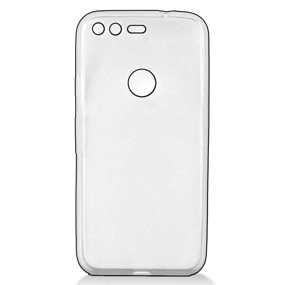 Mystcase™ For Google Pixel Frosted Candy Flexi Gel Crystal Skin Cover +Screen Protector