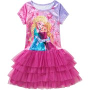 Frozen Ap Frzn Tiered Velour Tutu Dress