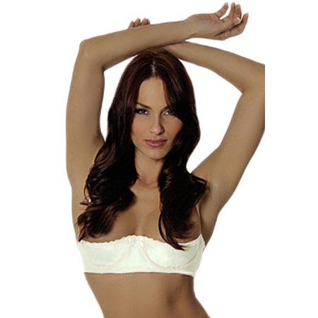 b5cf74b9410 So Sexy Lingerie - Open Cups A-DD Satin Quarter Cup Push Up Shelf Underwire  Chopper Bra Size 44 A-C White - Walmart.com