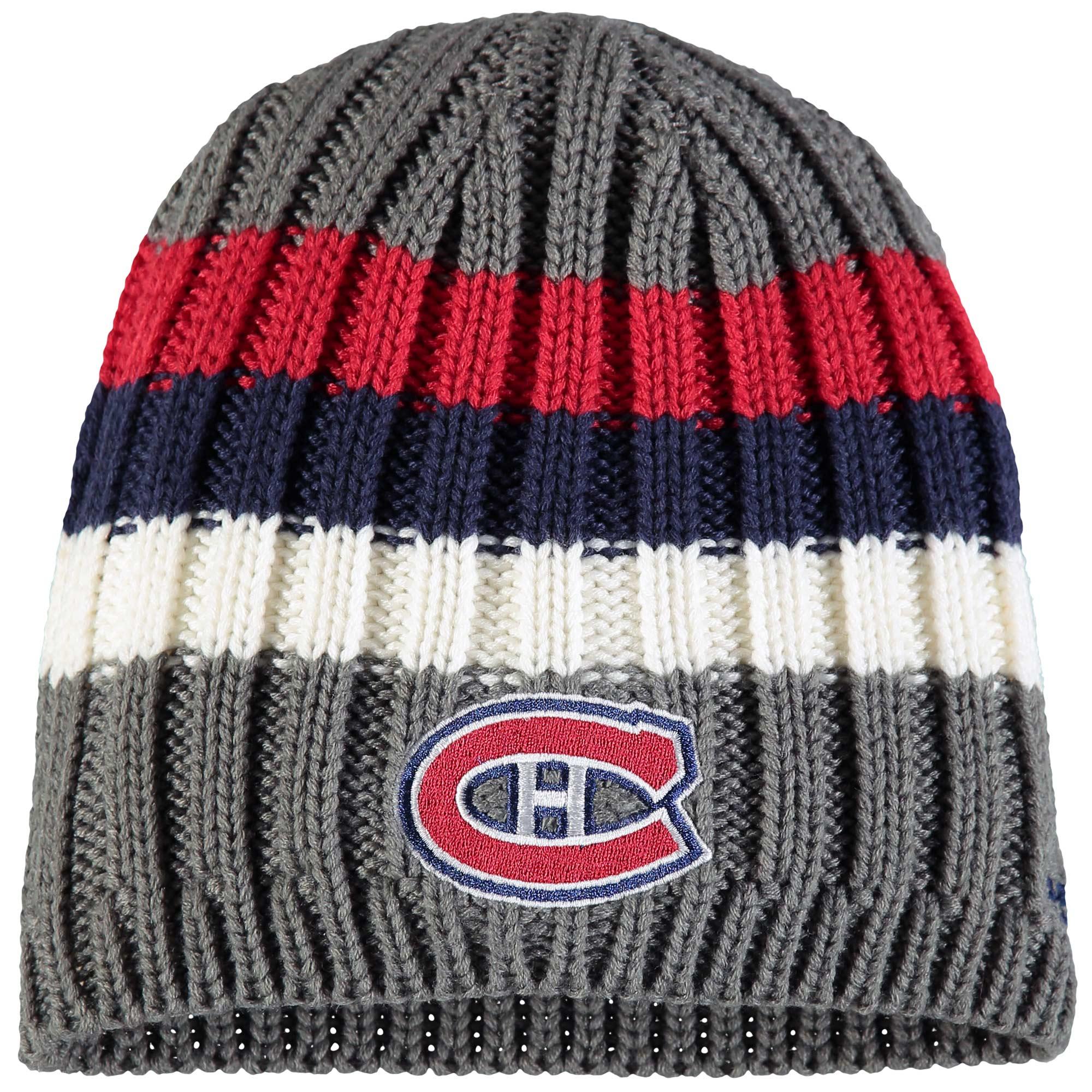 Montreal Canadiens Reebok Team Logo Uncuffed Knit Beanie - Gray - OSFA