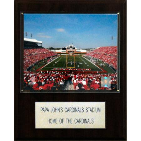 C Collectables Ncaa Football 12X15 Papa Johns Cardinal Stadium Stadium Plaque