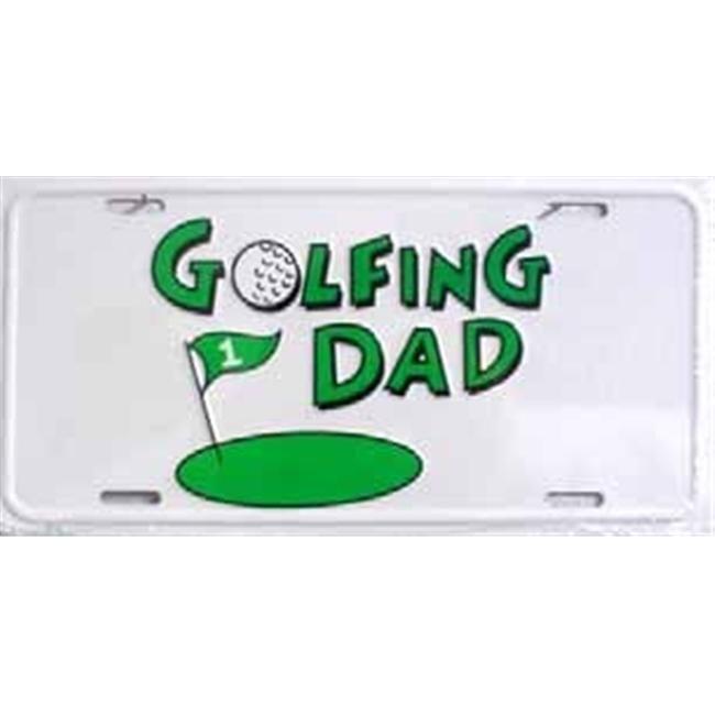 LP - 371 Golfing Dad License Plate - 5414