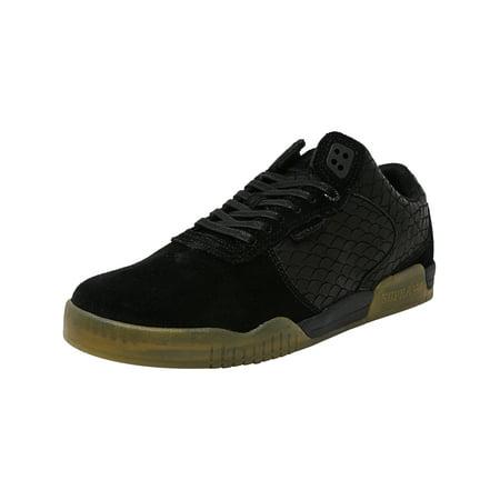 f50e52739092 Supra Men s Ellington Black   Gum Ankle-High Suede Skateboarding Shoe - 10M