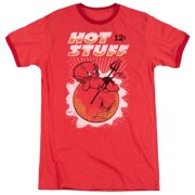 Hot Stuff Little Devil Comic Character Hot As The Sun Adult Ringer T-Shirt Tee