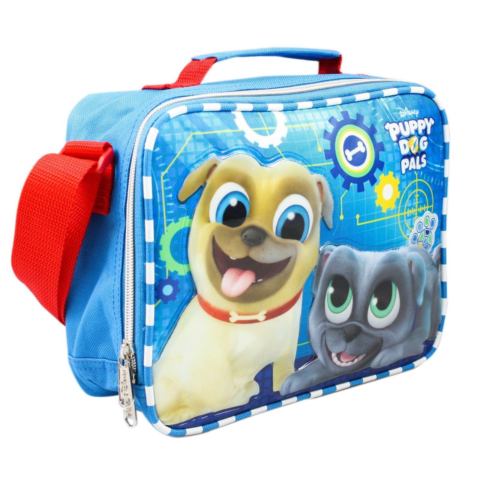 Disney Puppy Dog Pals Insulated Blue Lunch Bag- Bingo & Rolly