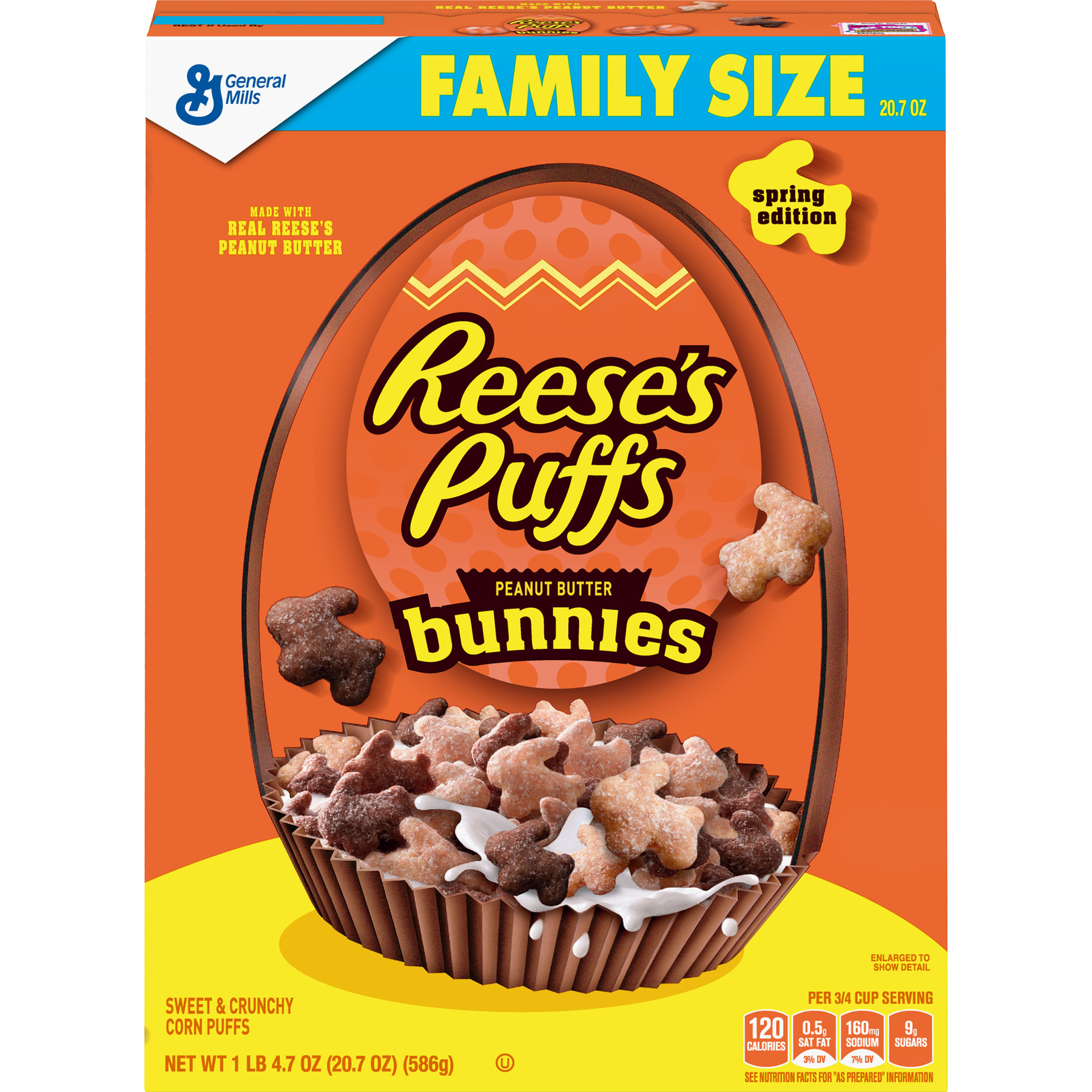 Reese's Puffs Bunnies Cereal, Breakfast cereal 20.7 oz