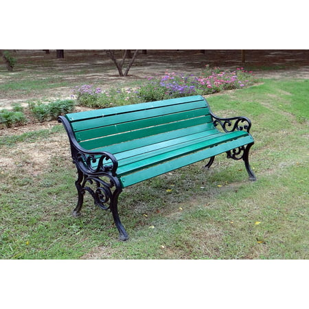 - LAMINATED POSTER Furniture Wooden Relax Park Bench Leisure Outdoor Poster Print 24 x 36