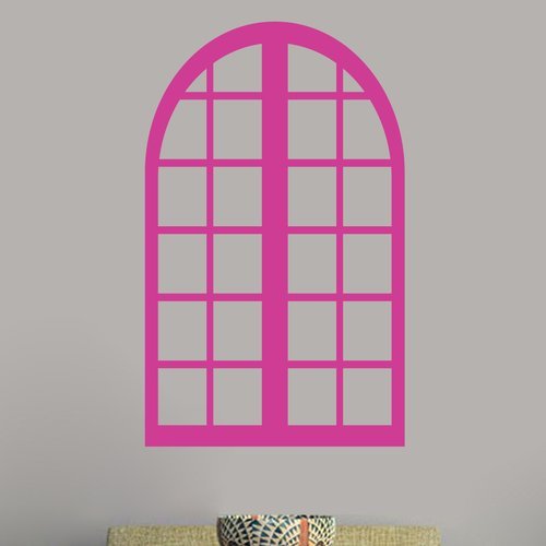 Sweetums Wall Decals Tall Arched Window Frame Wall Decal
