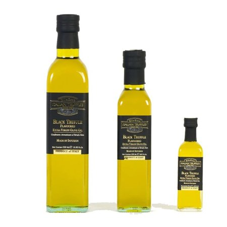 Black Summer and Winter Truffle Olive Oil - 1.86 fl oz (55 mL) Italian Truffle Mushroom (Evoo Olive Oil)