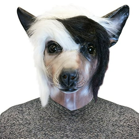 Chinese Crested Dog Costume Face Mask - Off the Wall Toys Kennel Club - Chinese Toys