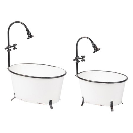 Image of Foreside Home and Garden Antique Bathtub Planters, Set Of 2