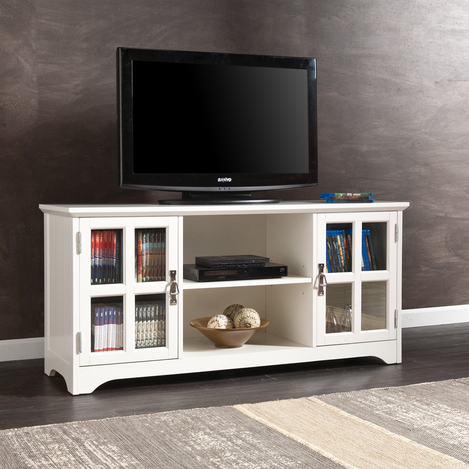Southern Enterprises Remington TV Media Stand White by Southern Enterprises Inc