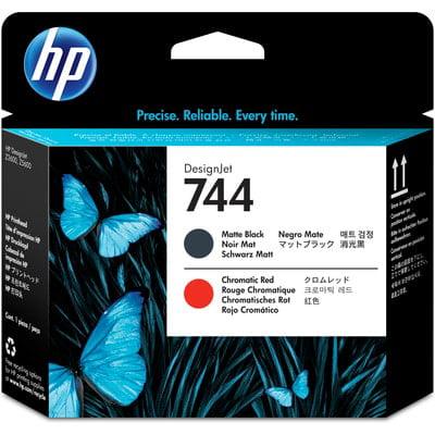 - HP 744 (F9J88A) Matte Black/Chromatic Red Printhead