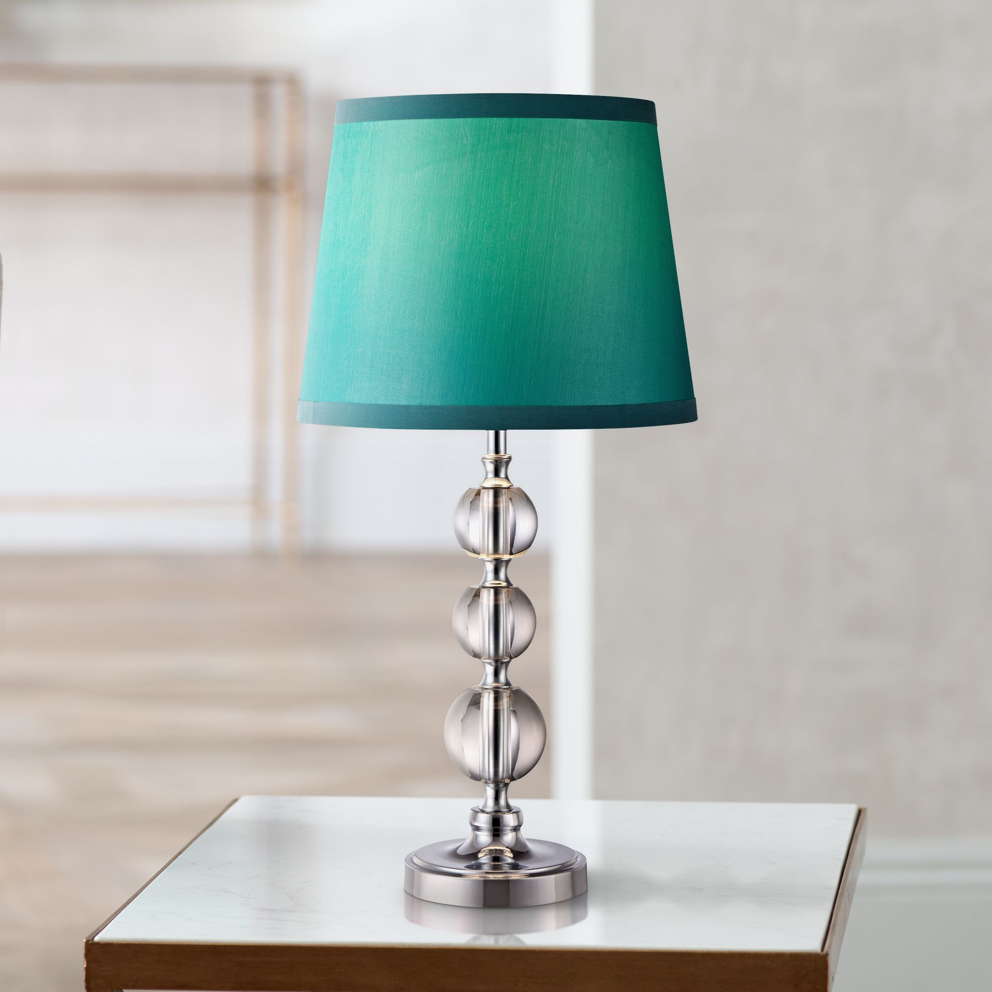 """360 Lighting Modern Accent Table Lamp 17"""" High Chic"""