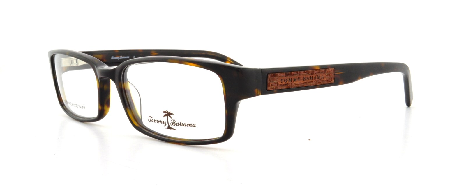 TOMMY BAHAMA Eyeglasses TB166 002 Brown Wood 53MM - Walmart.com