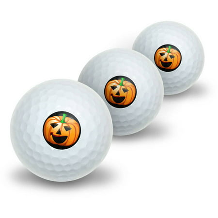 Jack-o-Lantern Pumpkin Halloween Novelty Golf Balls, 3pk