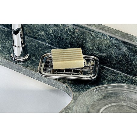 InterDesign Gia Bar Soap Dish for Bathroom Vanities  Kitchen Sink  2 Piece   Polished. InterDesign Gia Bar Soap Dish for Bathroom Vanities  Kitchen Sink