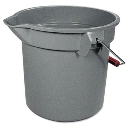 - 14-Quart Round Utility Bucket  12 Diameter x 11-1/4h  Gray Plastic